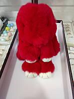Брелок заяц из натурального меха на сумку