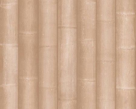 Обои с имитацией широких стеблей бамбука 981642.