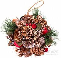 Новогодний декоративный шар венок