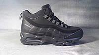 Ботинки Airmax мужские на меху (черные), ТОП-реплика, фото 1