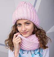 Зимний комплект для девочки из крупной вязки топ продаж 2018 - Арт 2155