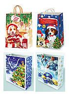 Подарочные пакеты новогодние размер 38 х 24 см (12 шт./уп.)