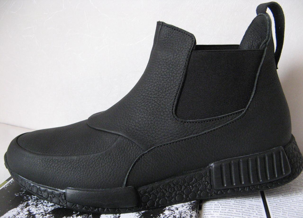 Демисезонные ботинки Gross кожа нубук мех  Гросс челси унисекс