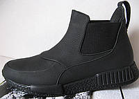 Демисезонные ботинки Gross кожа нубук мех  Гросс челси унисекс, фото 1