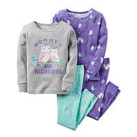 Пижама для девочки Carters 'Совушки' 2-3 года