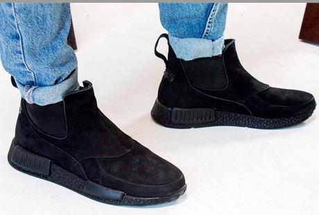 ba9cfafb2 Зимние мужские ботинки Gross кожа нубук мех Гросс челси - Trendy-brendy.com  в