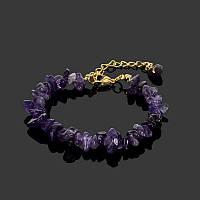 Браслет с натуральными камнями «Яркий аметист»
