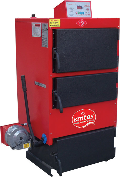 Котёл твёрдотоплевный Emtas™ - EK3G-35 трёхходовой (дрова/уголь) 41кВт, фото 1
