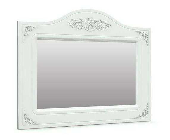 Зеркало горизонтальное Анжелика (Белый супер мат), фото 2