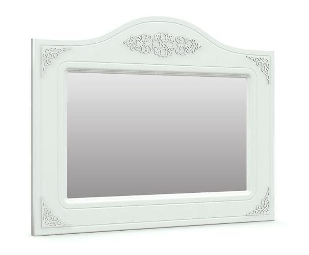 Зеркало горизонтальное Анжелика (Белый супер мат)