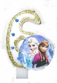 Свеча-цифра 6 Frozen