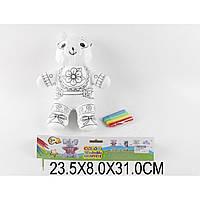 """Раскраска MS003 """"Мишка"""", + фломастеры, в пакете 23,5*8*31см"""