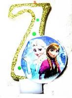 Свеча-цифра 7 Frozen