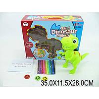 """Проектор """"Динозавр""""5588 катриджи-картинки,фломастеры,в кор.35*11,5*28см"""