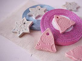 """Керамический декор """" Колокольчик розовый"""""""