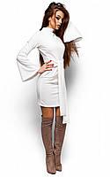 Женское платье с ангоры, белое, р.42-48
