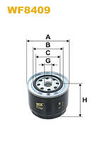 Фильтр топлива WF8409/852/2 (производитель WIX-Filtron) WF8409