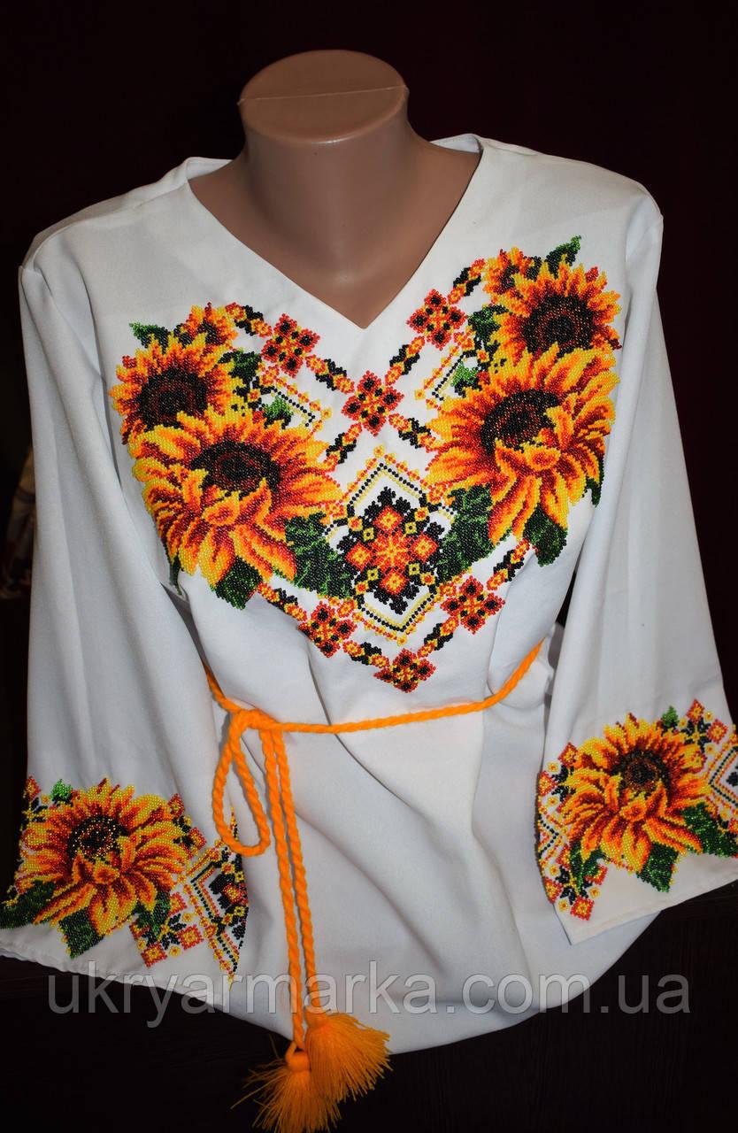 """Жіноча вишита блузка """"Соняшник"""""""