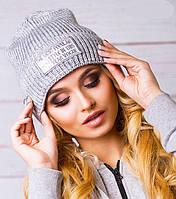 Спортивная женская вязаная шапочка