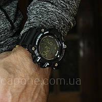 • Фото! Skmei 1227 Black смарт Bluetooth | Спортивные мужские часы, фото 1