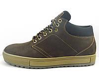 Ботинки зимние коричневые короткие на меху