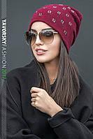 Стильная женская шапочка Лилия