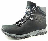 Ботинки зимние из натуральной кожи мужские черные / Модель 209/1