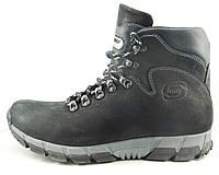 Ботинки зимние из натуральной кожи мужские черные