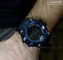 Фото! Skmei 1227 Blue смарт Bluetooth | Спортивные мужские часы