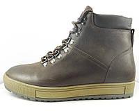 Зимние ботинки коричневого цвета на кедовой подошве, фото 1
