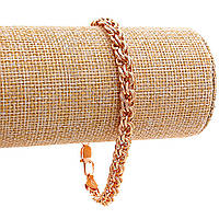 Браслет Xuping,объёмное плетение,замок карабин,цвет золото