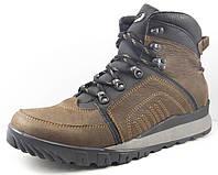 Ботинки мужские кожаные с накладными деталями коричневые / Модель 246/2