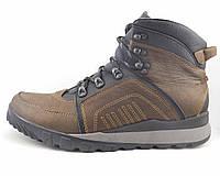 Ботинки мужские кожаные с накладными деталями коричневые