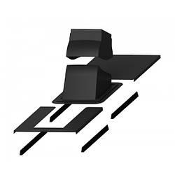 Проходной элемент + окантовка PIPPU MODULAR Черный