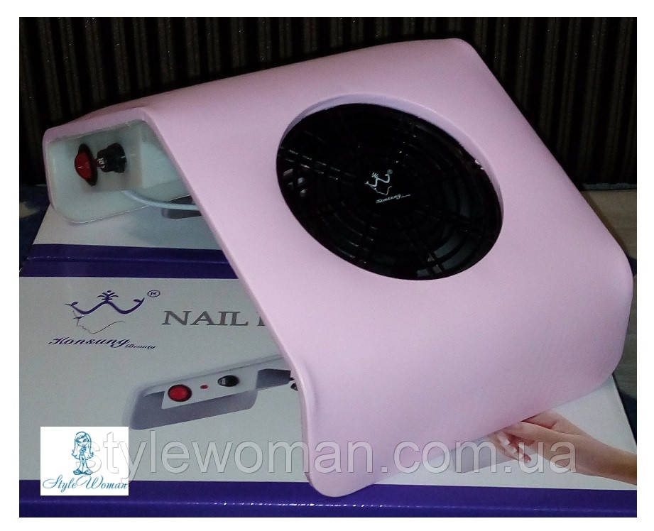 Вытяжка пылесос Konsung Beauty для маникюрного стола 30вт WN 208-2 розовая