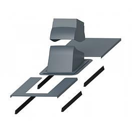 Проходной элемент + окантовка PIPPU MODULAR Серый