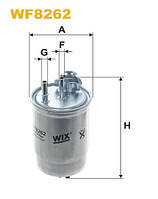 Фильтр топлива FIAT DOBLO WF8262/PP966 (производитель WIX-Filtron) WF8262