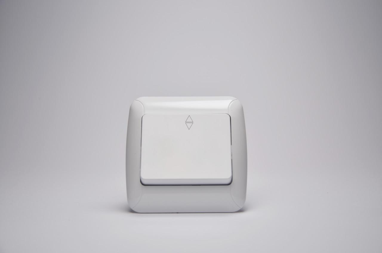 Выключатель GUNSAN Fantasy Встроенный 1 клав(разъем) Белый Проходной