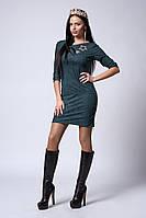 Платье мод №544-3, размеры 46 бутылочное