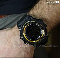 Фото! Skmei 1227 Gold смарт Bluetooth | Спортивные мужские часы
