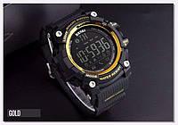 Оригинальные Smart часы Skmei 1227 Gold | Cмарт Bluetooth | Спортивные мужские часы