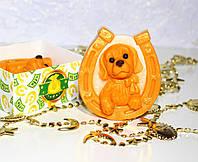Мыло подарочное ручной работы «Собачка» (апельсин)