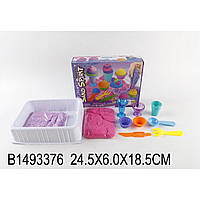 """Игра """"Живой песок"""" JL11004G 3 цвета,формочки, стикера, в коробке 24,5*6*18,5см"""