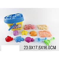 """Игра """"Живой песок"""" JL11002M 3 цвета,формочки, стикера, в ведерке 24*23,5*16см"""