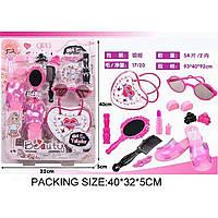Аксессуары для девочек SF235277 туфли,расч,помада,зерк,сумочка, заколки,очки на планш.40*32