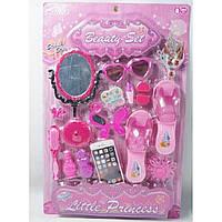 Аксессуары для девочек SF255655 туфли,расч,помада,зерк,заколки,очки,телеф,ногти на планш.