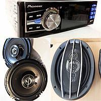 Магнитола Pioneer 3611 c Video + 2 пары колонок, Набор Авто-звука!