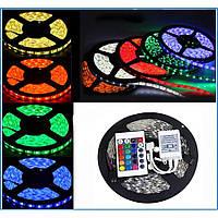 Светодиодная лента RGB 5050 +КОНТРОЛЛЕР+ПУЛЬТ+БЛОК ПИТАНИЯ. LED лента полный комплект, фото 1
