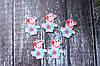 """Кабошон """"Пеппа Балерина в голубом платье с цветком новая """" 3 х 2,2 см, 25 шт/уп. оптом"""