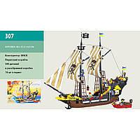 """Конструктор """"Brick"""" 307 """"Пиратский корабль"""" 590дет., от 5-ти лет, в кор. 48*32*7см"""